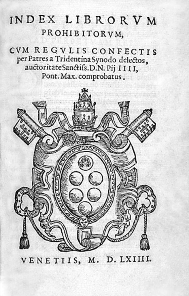 1559: The Index of Forbidden Books