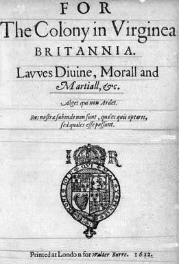 1611: Dale's laws