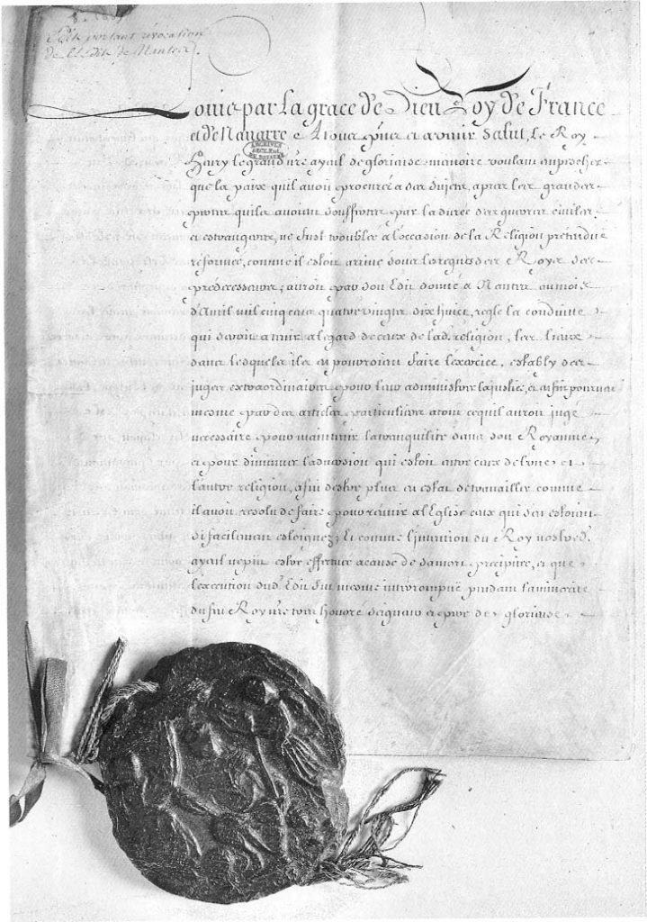 1685: The Edict of Fontainebleau