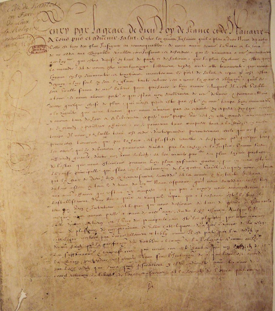 1598: The Edict of Nantes