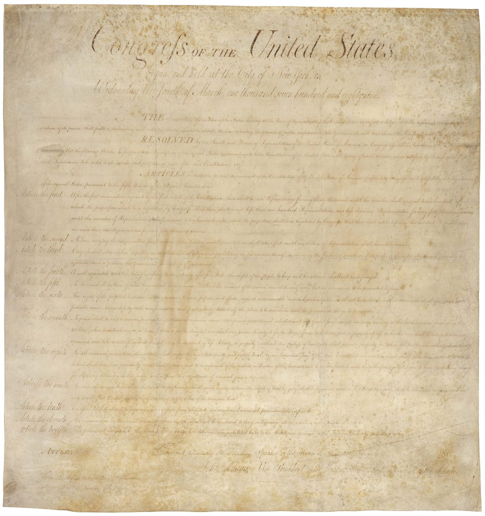 1791: The Bill of Rights